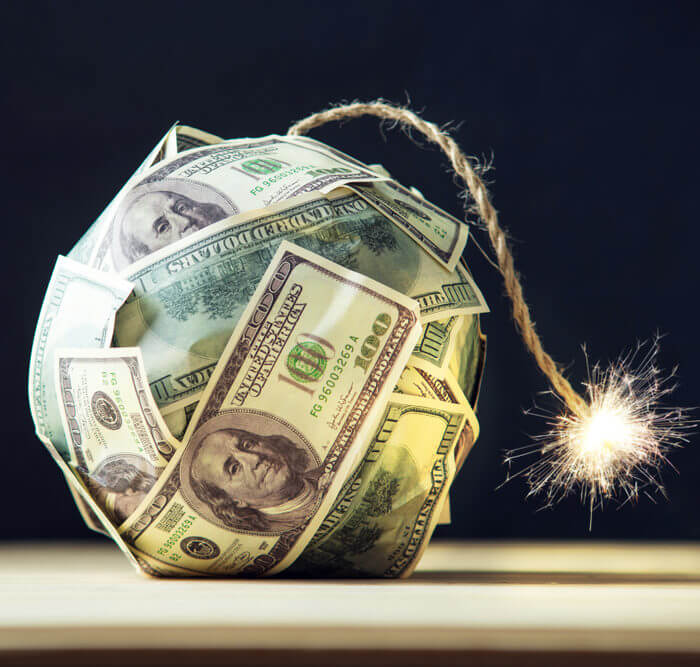 Virksomhedens gæld er en risiko når du investerer