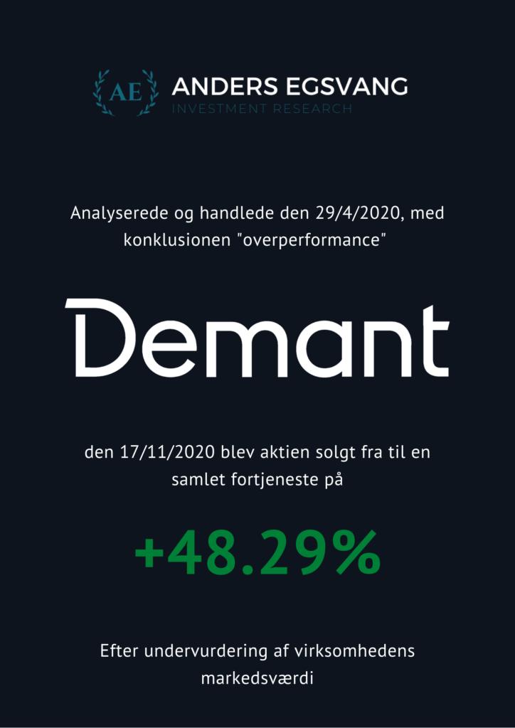 Demant investeringsresultat