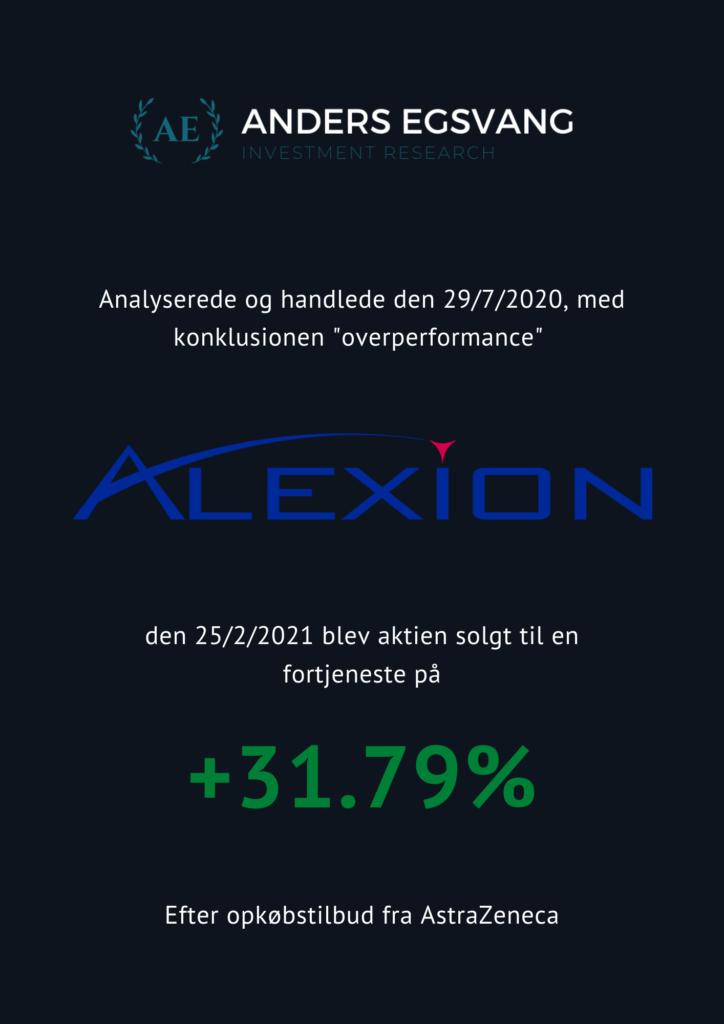Alexion afsluttet investering