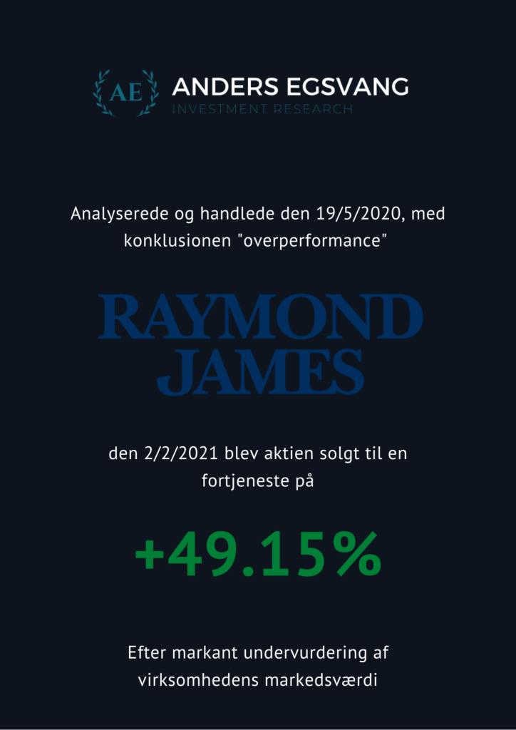 Raymond James analyse aktie resultat